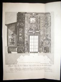 Paul Decker 1711 Folio Baroque Architectural Print. Cabinets 32